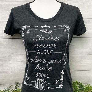Ladies Book Themed Graphic Tee